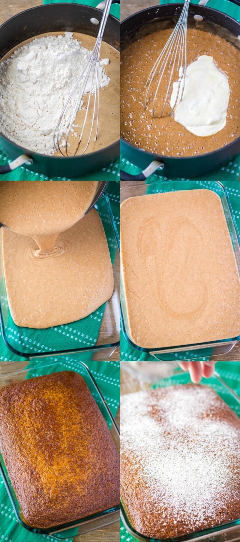 steps to make Guinness gingerbread