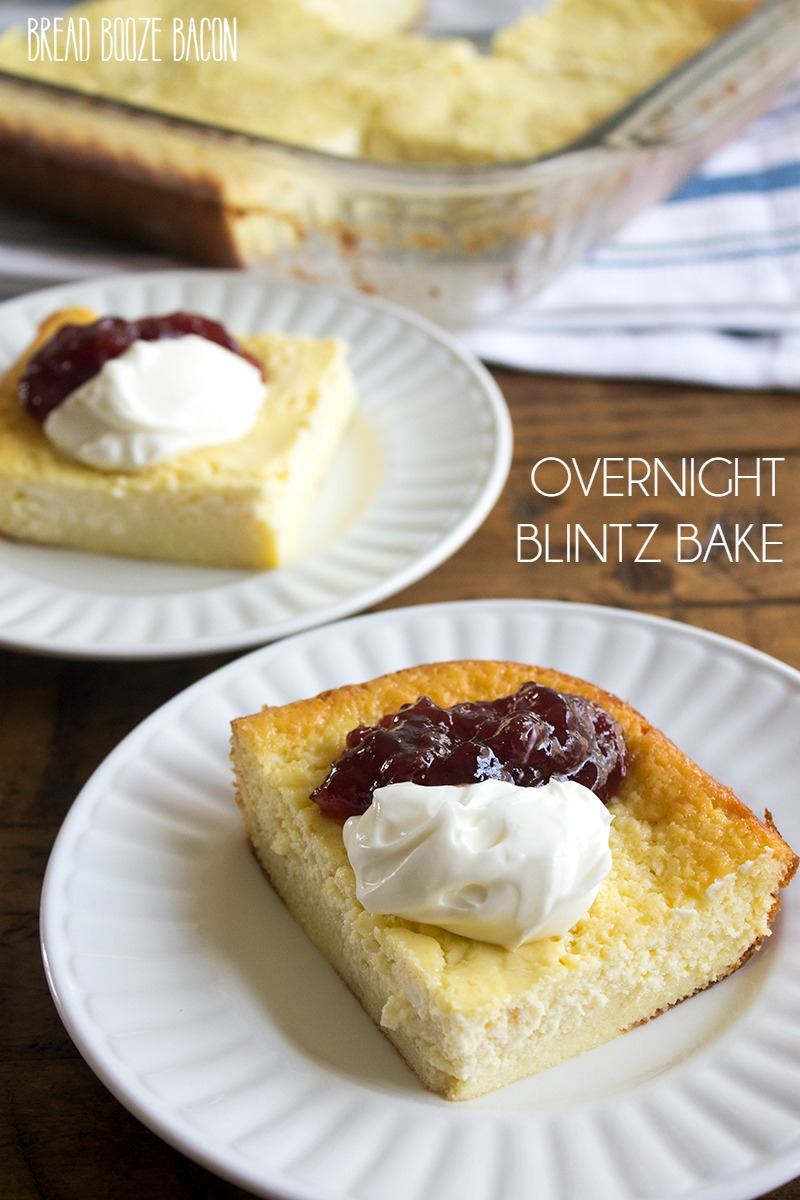 Overnight Blintz Bake is a make ahead breakfast that gives you all the flavor of a blintz without all the work! Easy to make and a crowd favorite at brunch!