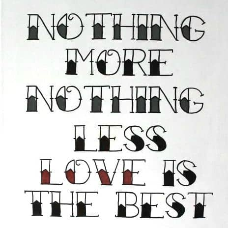 Love Is The Best DIY Quote Canvas