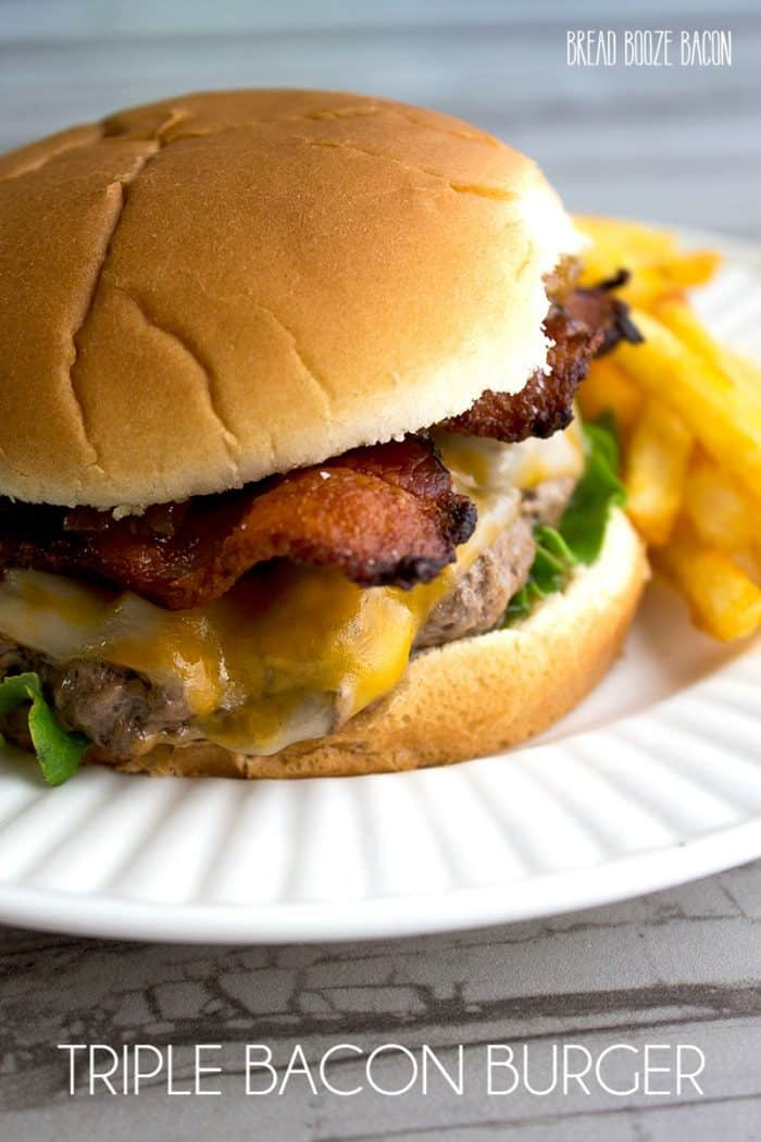 This Triple Bacon Burger seriously THE BEST burger I've ever had, and I love me some burgers. Please please please! Go make this burger as soon as you can!