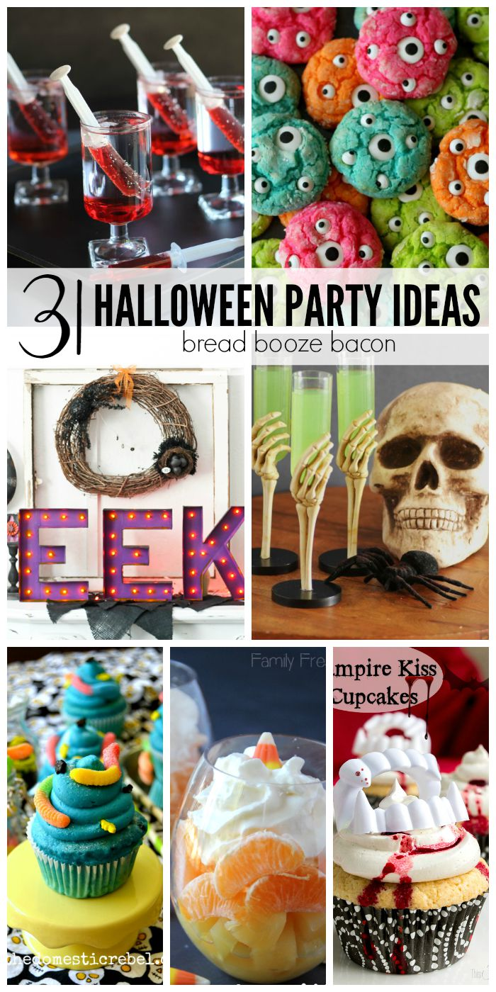 Halloween is my favorite holiday. Yes it rivals Christmas for me. The costumes, the trick-or-treating, the horror movie marathons. LOVE! Now you can get ready for your next totally awesome fête with these 31 Halloween Party Ideas!