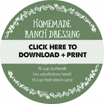 Homemade Ranch Dressing Mix PRINT ME