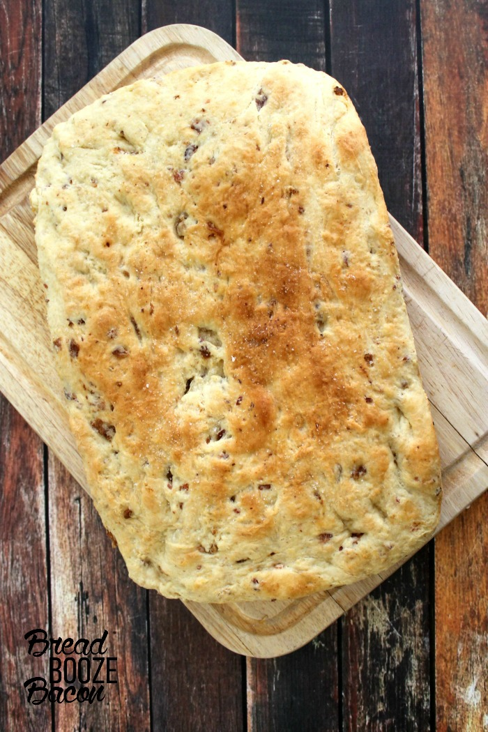 Bacon Focaccia bread is a delicious twist on an Italian classic, and the best sandwich bread we've ever had!