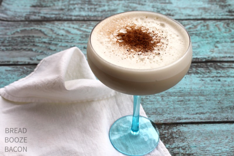 Bourbon Milk Punch is a creamy, bourbon forward cocktail that is a party favorite!