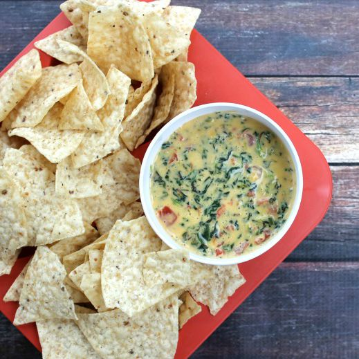 Crock Pot Spinach + Bacon Cheese Dip