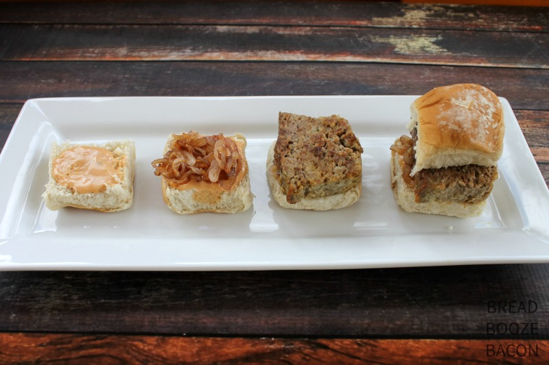 Comfort food in party form!  Meatloaf Sliders are great for game day or a fun dinner idea!