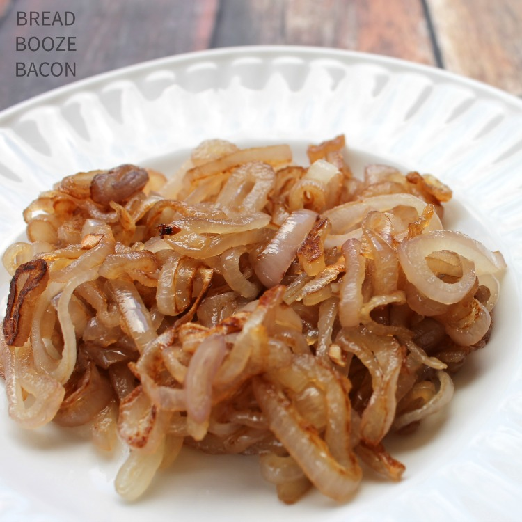 I could put these Whiskey Caramelized Shallots on just about everything. They're so sweet & flavorful!