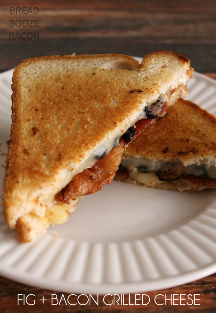 Fig & Bacon Grilled Cheese is an ooey, gooey, cheesy grown-up's take on a classic!
