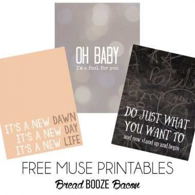 Free Muse Printables | Bread Booze Bacon