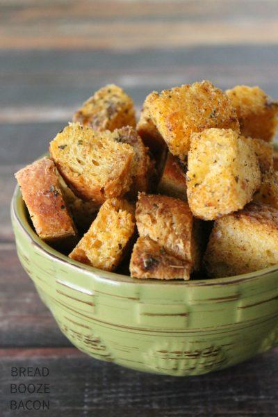Garlic Parmesan Croutons 2