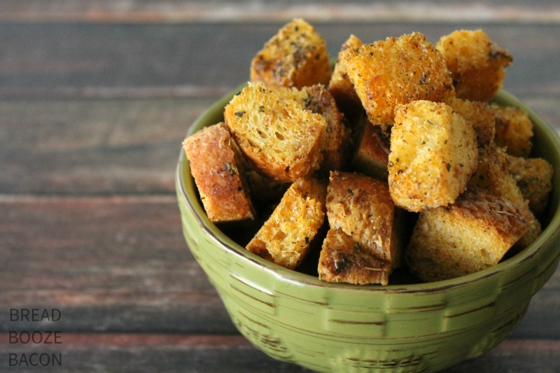 Garlic Parmesan Croutons are so good, you may never get the store bought ones again!