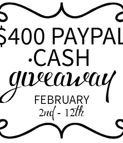 $400 PayPal Cash Giveaway [CLOSED]