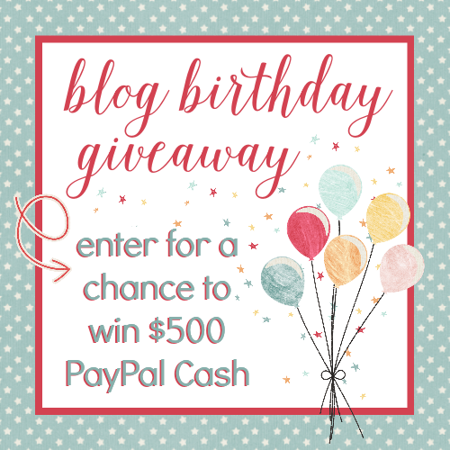 $500 PayPal Cash Blog Birthday Giveaway 2