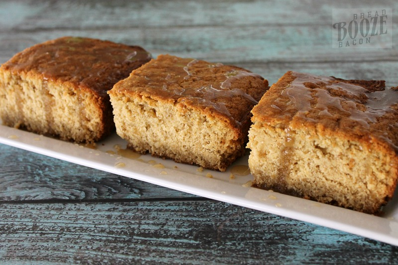 Oatmeal Cake with Maple Glaze from Teaspoon Bake Shop is an easy to make dessert that's not too sweet, and is the perfect end to any meal!
