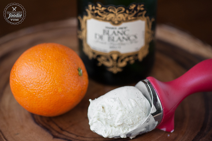 This Orange Mimosa Float takes your love mimosas and ice cream to the next level!
