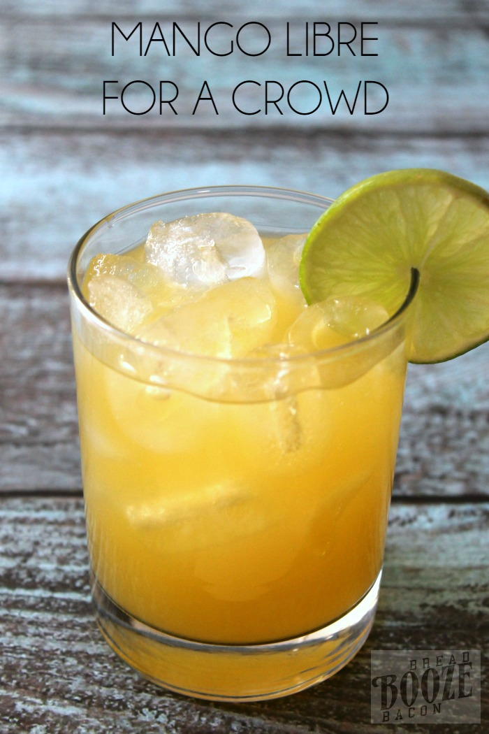This Mango Libre is a tropical spin on a classic cocktail.  Sweet mango nectar takes the place of cola in this creeper cocktail your guests will LOVE! And if cocktails aren't your thing, we have a non-alcoholic version too!  #12Bloggers