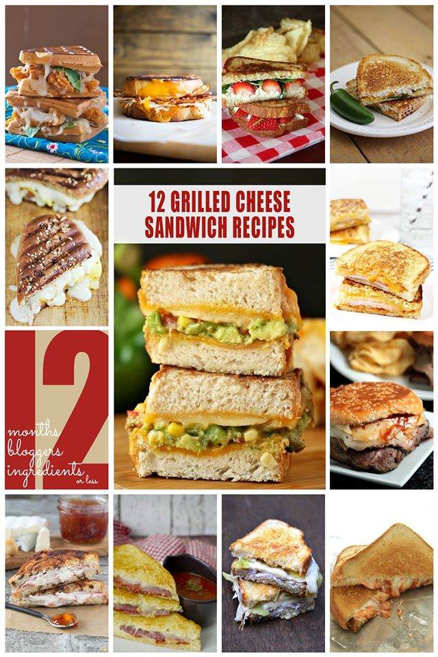 12 Grilled Cheese Recipes Worth Drooling Over #12Bloggers