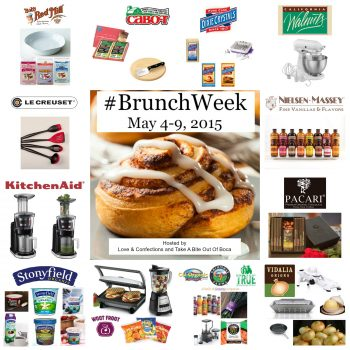 Enter to win 1 of 12 #BrunchWeek prize packs! Giveaway Ends May 9th
