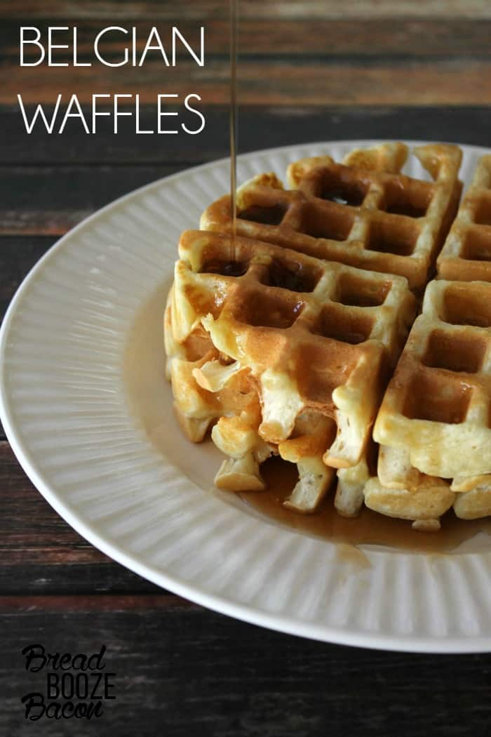 These are the best Belgian Waffles we've ever had!  They take a little time and a sink full of dishes, but they are oh so worth it!