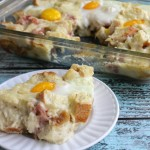 Croque Madame Breakfast Casserole #BrunchWeek