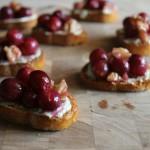 Roasted Grape + Bleu Cheese Bruschetta #BrunchWeek