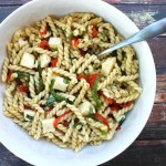 Roasted Pepper Pasta Salad #BrunchWeek