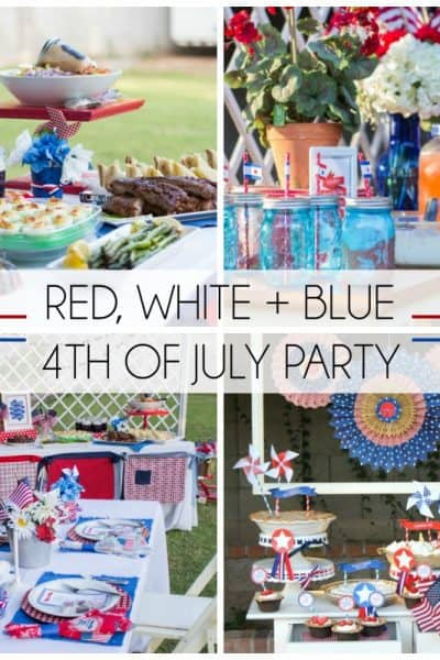 Red, White & Blue 4th of July Party