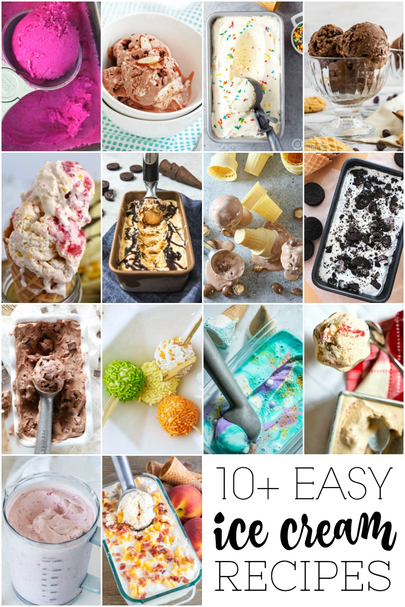 10+ Easy Ice Cream Recipes