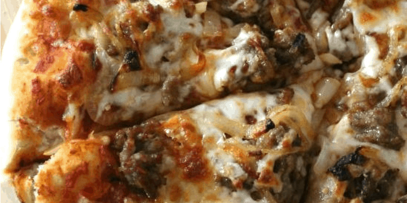 Italian Sausage + Caramelized Onion Pizza | Bread Booze Bacon