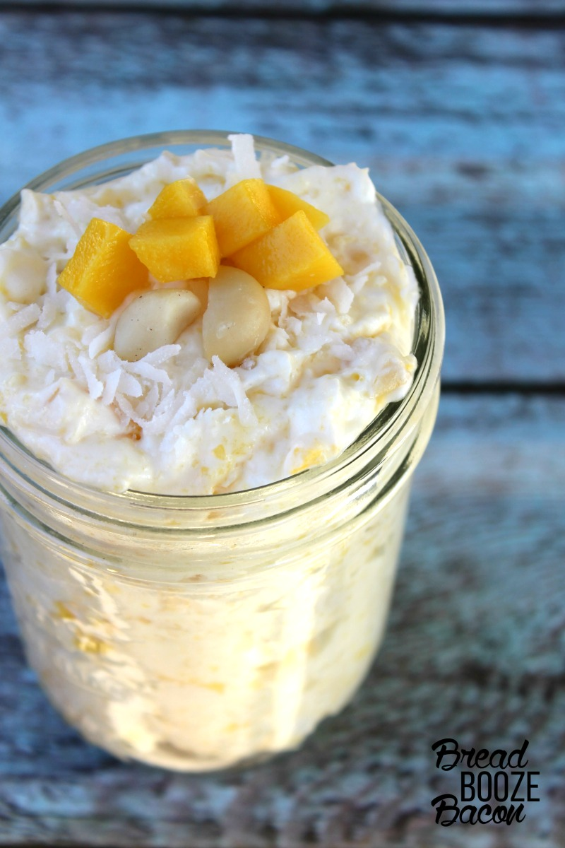 Mango Macadamia Fluff is a tropical no bake summer dessert you'll swoon for!