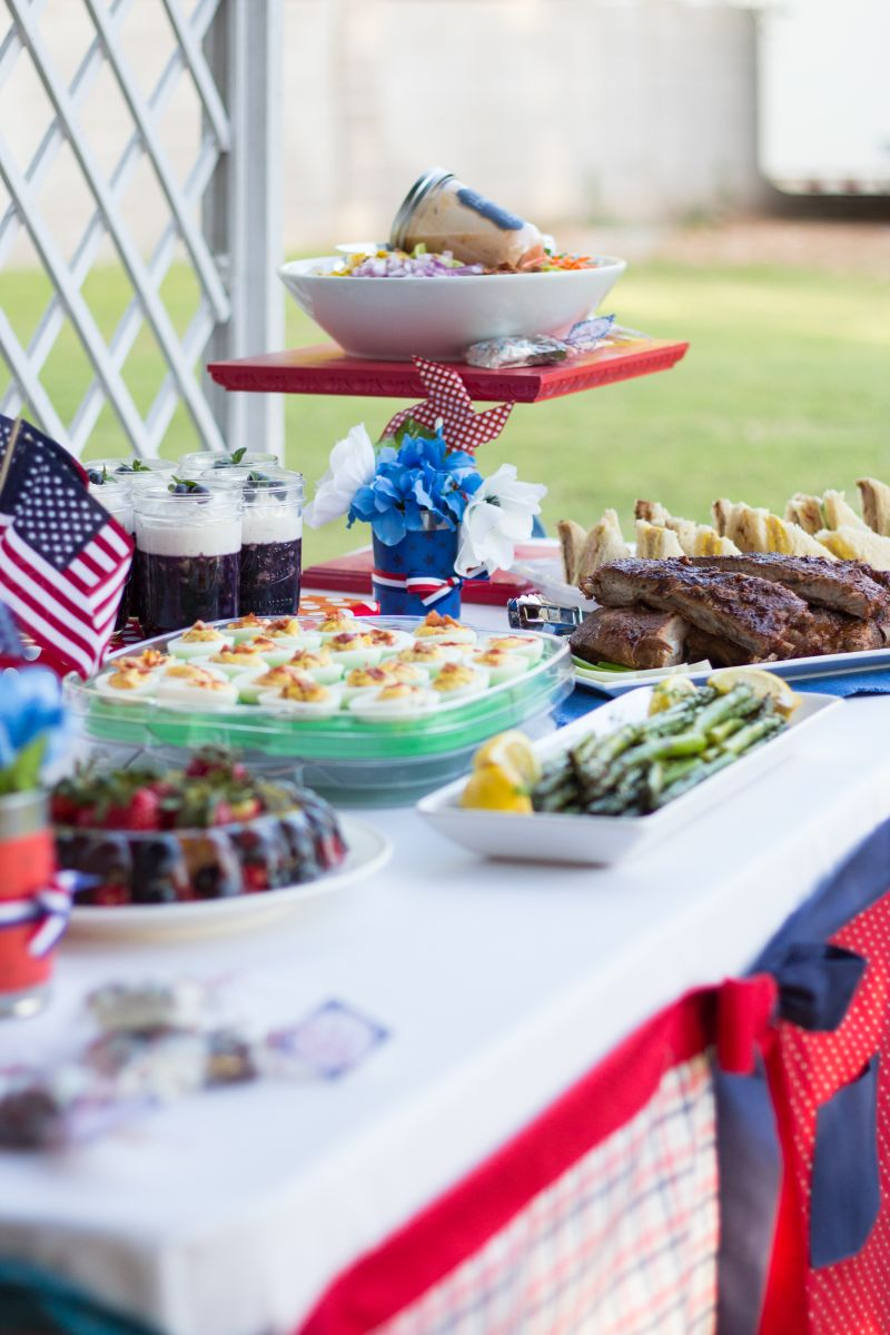 Red, White + Blue 4th of July Party | Bread Booze Bacon