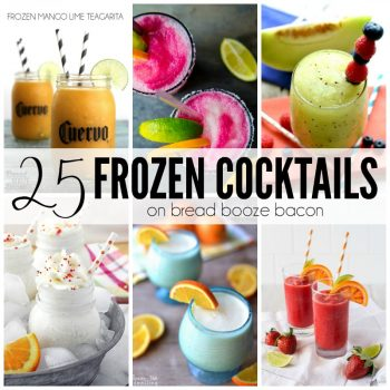 I love a good cocktail and when it's crazy hot in the summer a frozen cocktail is the name of the game! These 25 Frozen Cocktails come in a rainbow of colors with flavors you'll want to make again and again!