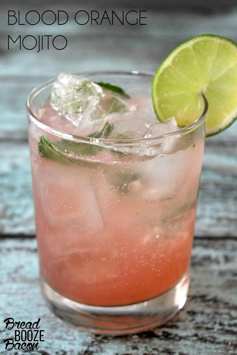 Our Blood Orange Mojito is the perfect way to cool off on a hot day! It's not too sweet & oh so refreshing!