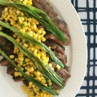 Flank Steak with Wilted Scallions + Corn Salsa | Bread Booze Bacon