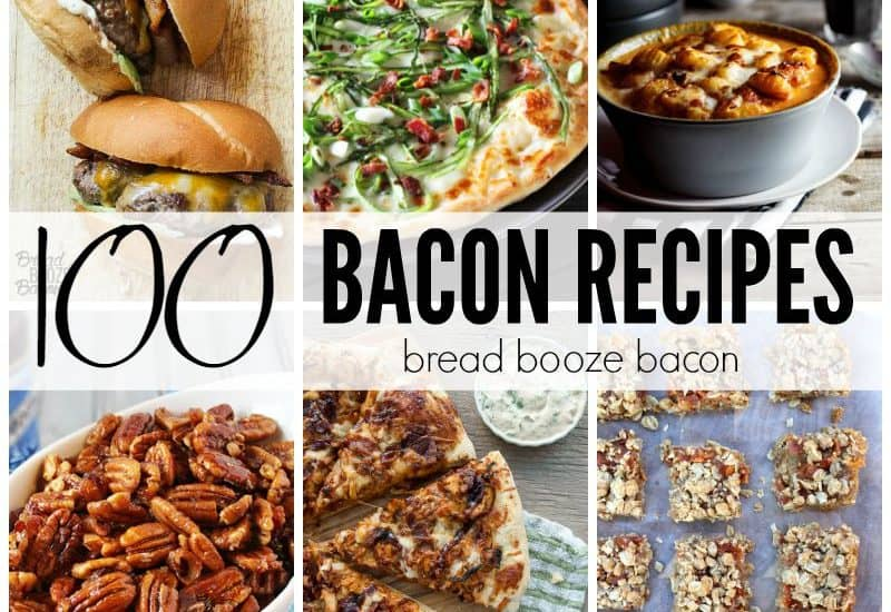 Bacon makes everything better and these 100 Bacon Recipes show you just how versatile your favorite piece of pig really can be!