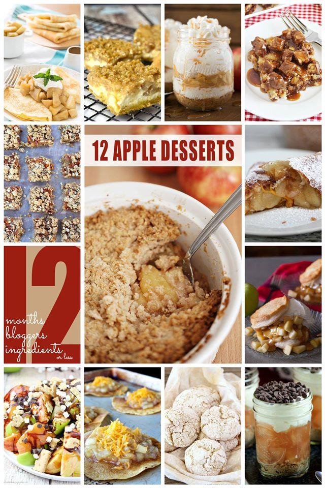 12 Blogger 2015 Apple Desserts