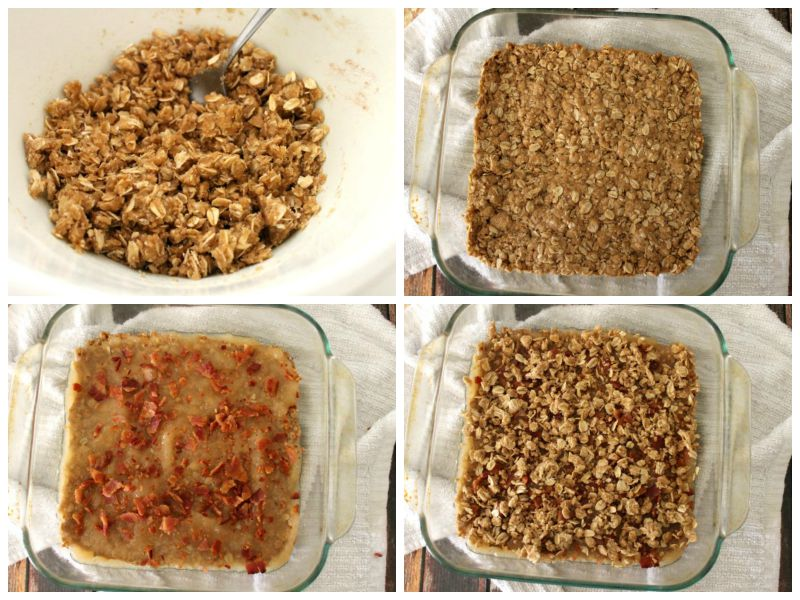 Apple Bacon Oat Bars are a sweet and salty bite of dessert bliss! #12Bloggers