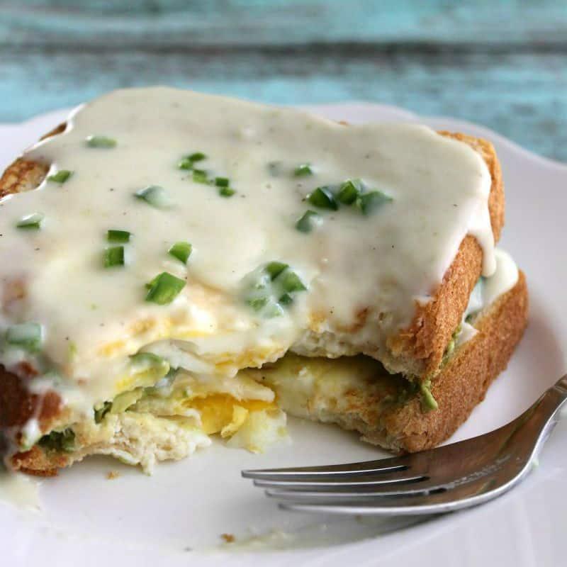 Avocado Egg Toast Stack | Bread Booze Bacon