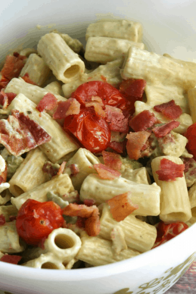 Bacon, Avocado & Roasted Tomato Pasta Salad