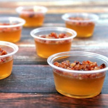 Bacon Bourbon Apple Jello Shots | Bread Booze Bacon
