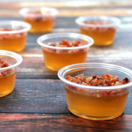 Bacon Bourbon Apple Jello Shots
