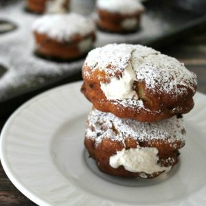 Bacon Donuts with Maple Cinnamon Cream | Bread Booze Bacon