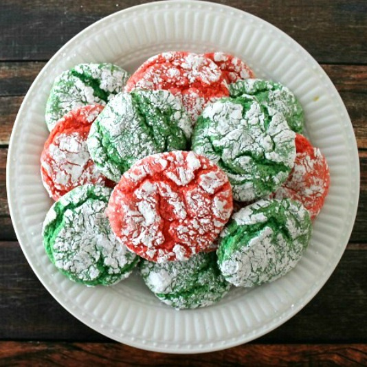 Christmas Crinkle Cool Whip Cookies