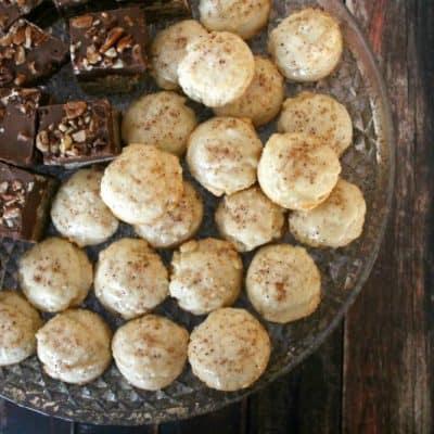 Nutmeg Coins with Eggnog Glaze