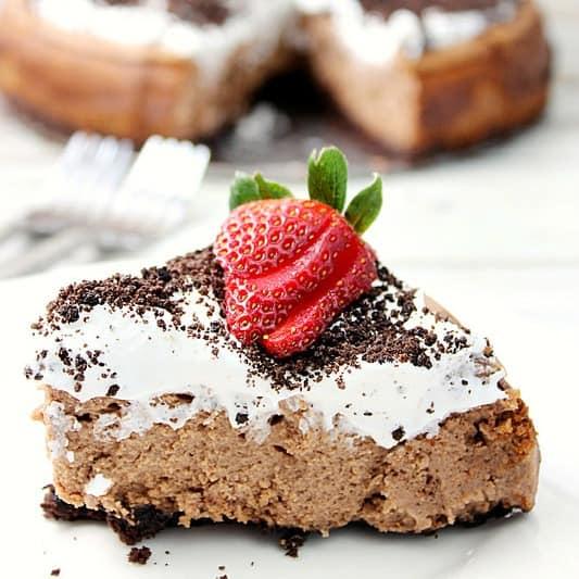 Oreo Chocolate Irish Cream Cheesecake with Irish Cream Whipped Cream   Love Bakes Good Cakes for Bread Booze Bacon
