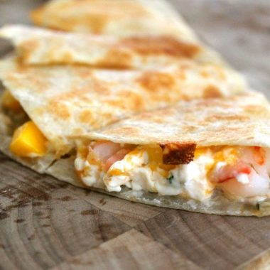 Shrimp Mango Quesadillas | Bread Booze Bacon