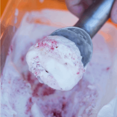 Strawberry Swirl Ice Cream | Bread Booze Bacon
