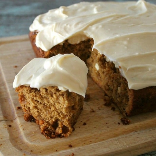 White Chocolate Chip Gingerbread with Cream Cheese Frosting