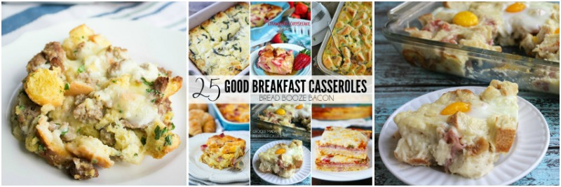 Breakfast French Toast Casserole Collage