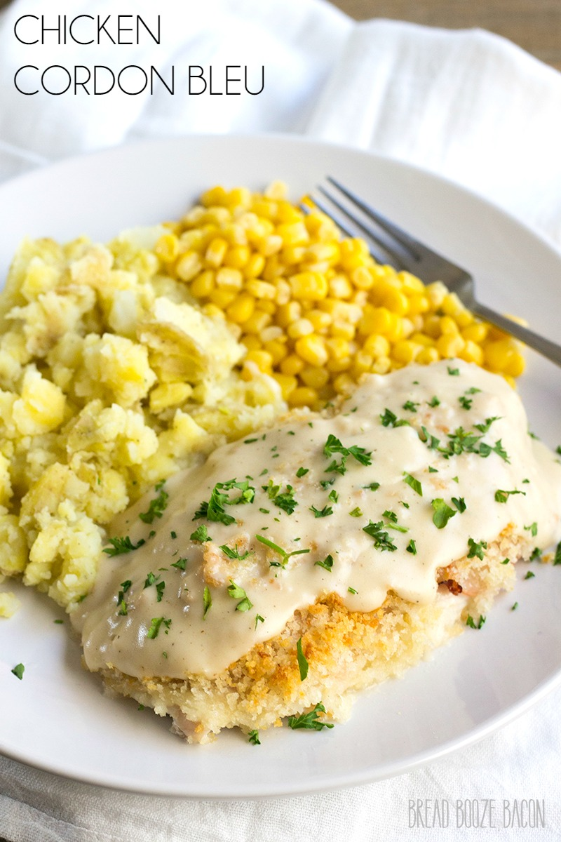 Go make this Easy Chicken Cordon Bleu for dinner tonight! I'm not even kidding. It's completely delicious, and the sauce is to die for!